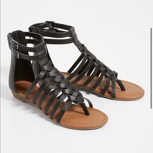Black Gladiator Sandals Size 5